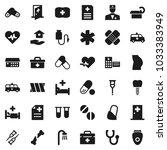 flat vector icon set   house... | Shutterstock .eps vector #1033383949