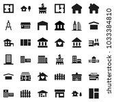 flat vector icon set  ... | Shutterstock .eps vector #1033384810