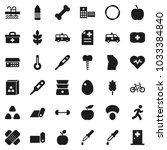 flat vector icon set   double... | Shutterstock .eps vector #1033384840