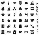 flat vector icon set   plates... | Shutterstock .eps vector #1033384924
