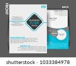 business brochure flyer design... | Shutterstock .eps vector #1033384978
