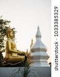 statue of buddha in thai temple   Shutterstock . vector #1033385329