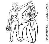 bride and groom. joyful wedding ... | Shutterstock .eps vector #1033386916