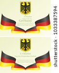 flag of germany  holiday in... | Shutterstock .eps vector #1033387594