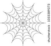 spider web icon design vector... | Shutterstock .eps vector #1033389373