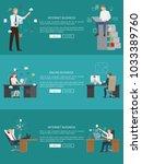 internet business online work ... | Shutterstock .eps vector #1033389760