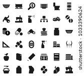 flat vector icon set   toilet... | Shutterstock .eps vector #1033390624