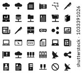 flat vector icon set   pen... | Shutterstock .eps vector #1033391026