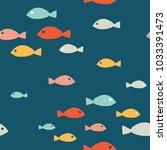 simple sea vector seamless...   Shutterstock .eps vector #1033391473