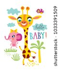 poster with little african... | Shutterstock .eps vector #1033391509