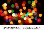 multicolored defocused blurred... | Shutterstock . vector #1033392214