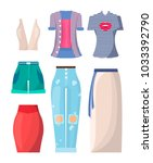 clothing summer mode  set of... | Shutterstock .eps vector #1033392790