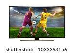 watching smart tv translation... | Shutterstock . vector #1033393156