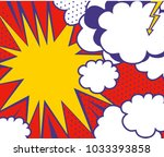 pop art style background with...   Shutterstock .eps vector #1033393858