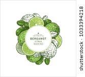 fresh bergamot round design... | Shutterstock .eps vector #1033394218