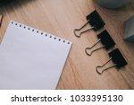 notebook paper clips | Shutterstock . vector #1033395130