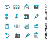 business and office icon | Shutterstock .eps vector #1033396414