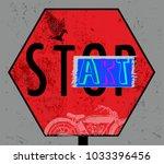 modern typography grafitti | Shutterstock .eps vector #1033396456