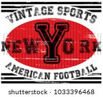 college new york typography  t... | Shutterstock .eps vector #1033396468