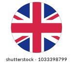 round flag of united kingdom | Shutterstock .eps vector #1033398799