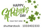 happy st. patrick's day... | Shutterstock .eps vector #1033402333