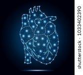 polygonal human heart  in low... | Shutterstock .eps vector #1033402390