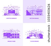modern flat purple color line... | Shutterstock .eps vector #1033403626