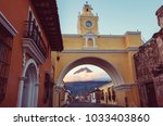 colonial architecture in... | Shutterstock . vector #1033403860