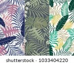 set of three seamless floral... | Shutterstock .eps vector #1033404220