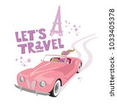 let's travel labels and... | Shutterstock .eps vector #1033405378