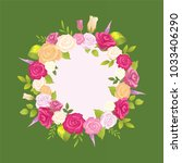 decorative wreath made of... | Shutterstock .eps vector #1033406290