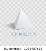 tetrahedron white geometric... | Shutterstock .eps vector #1033407616