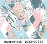 seamless diamond shape pattern... | Shutterstock . vector #1033407868
