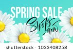 spring sale banner  background... | Shutterstock .eps vector #1033408258