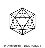 icosahedron geometric shape... | Shutterstock .eps vector #1033408336