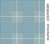 seamless glen plaid pattern in...   Shutterstock .eps vector #1033408384