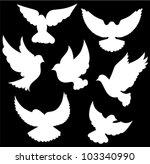 vector dove symbol | Shutterstock .eps vector #103340990