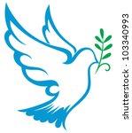 vector dove symbol | Shutterstock .eps vector #103340993