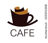 cafe sign | Shutterstock .eps vector #103341008