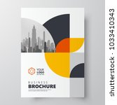 circles theme flyer brochure... | Shutterstock .eps vector #1033410343