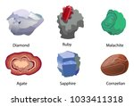 aquamarine ruby malachite agate ... | Shutterstock .eps vector #1033411318