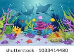 marine habitats and the beauty... | Shutterstock .eps vector #1033414480