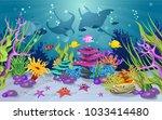 marine habitats and the beauty... | Shutterstock .eps vector #1033414480