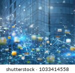 abstract internet connection...   Shutterstock . vector #1033414558