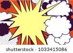 pop art background. vector | Shutterstock .eps vector #1033415086