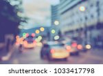 abstract blur image of  road in ... | Shutterstock . vector #1033417798