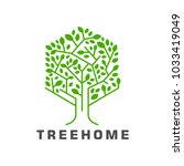 hexagon tree logo icon   Shutterstock .eps vector #1033419049