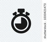 chronometer vector icon on... | Shutterstock .eps vector #1033421473
