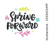 spring forward quote. modern... | Shutterstock .eps vector #1033422499