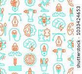 creative seamless pattern with... | Shutterstock .eps vector #1033424653